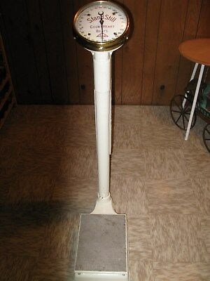 1900's Antique, Tall,Very Heavy and Working Penny Scale.