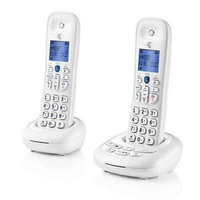 Telstra Easy Control 202 Basic Twin Cordless Phones White Block Nuisance Calls
