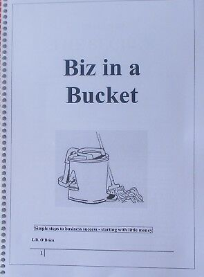 'Biz in a Bucket' Manual on how to begin and run a domestic cleaning business