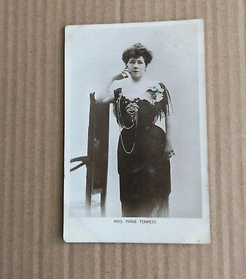 Early 1900s Glamour Post Card Miss Marie Tempest