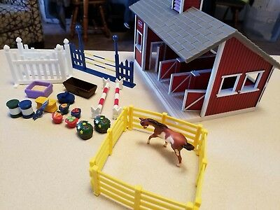 Breyer horse animal Barn Farm + accessories fencing hay bales and more