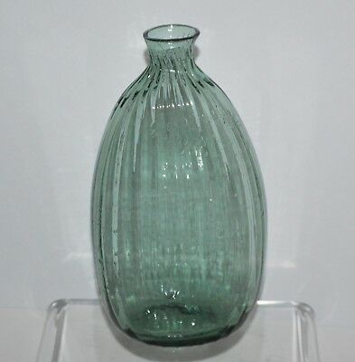Pattern Molded Ribbed Flask Ca. 1790-1820