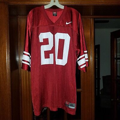Nike OU Oklahoma Sooners Football Jersey legacy xl throwback striped sleeve #20