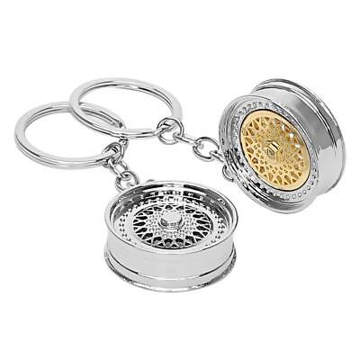 Gold Silver Auto Part Model BBS Wheel Rim Tyre Key Chain Ring Keychain Keyring