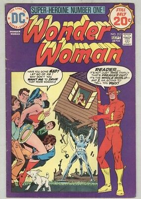 Wonder Woman #213 VG August 1974 The Flash