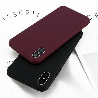 Soft Feeling Jelly Case TPU Matte Silicone Rubber for iPhone X XS 8 7 6 Plus WV