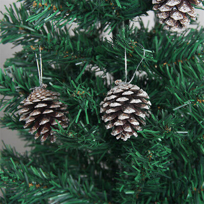9pcs Christmas Pine cones XMAS Tree Hanging Ornament Xmas Decorations GN