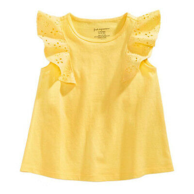 Toddler Baby Girl Lace Ruffle Sleeve T-shirts Tops Tee Kids Summer Clothes