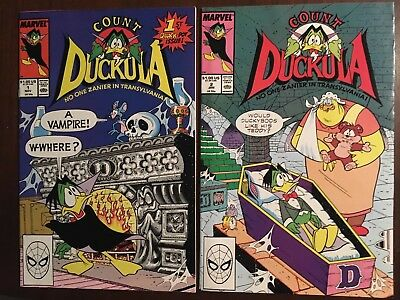 Count Duckula #1 #2 And #4 (Marvel) Nickelodeon Comics, Danger Mouse App
