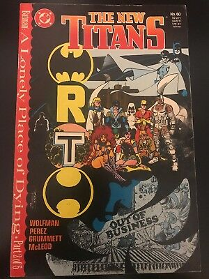 The New Titans 60 DC Comics VF- Book 1989 Batman A Lonely Place Of Dying Robin