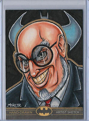 Hugo Strange Batman: The Legend 2013 Cryptozoic DC Sketch Card Jennifer Mercer