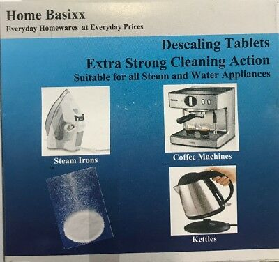 4 Descaling Tablets Descaler for Espresso Coffee Machines /iron/kettles