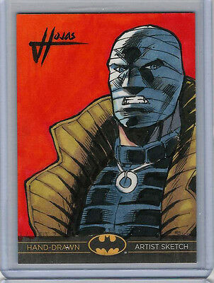 Hush Batman: The Legend 2013 Cryptozoic DC Sketch Card by Jefferson Hojas 1/1