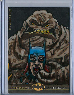 Clayface Batman:The Legend 2013 Cryptozoic DC Sketch Card by Scott Houseman 1/1