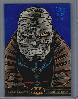 Hush Batman: The Legend 2013 Cryptozoic DC Sketch Card Ramsey Raz Sibaja 1/1