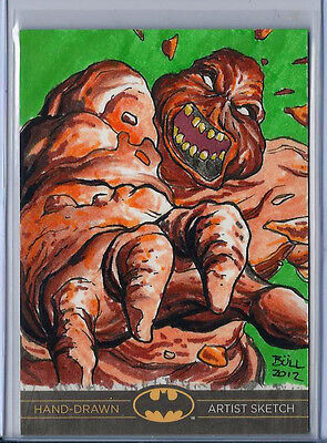 Clayface Batman:The Legend 2013 Cryptozoic DC Sketch Card Bruno Bull de Oliveira