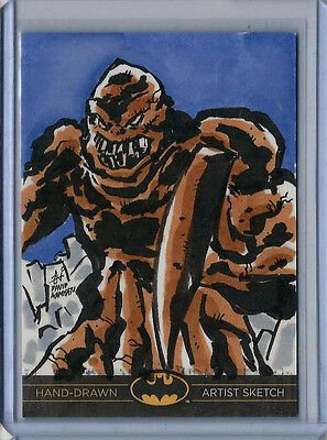 Clayface Batman: The Legend 2013 Cryptozoic DC Sketch Card David Namisato 1/1