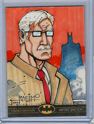 James Gordon Batman: The Legend 2013 Cryptozoic DC Sketch Card by Jon Racimo 1/1