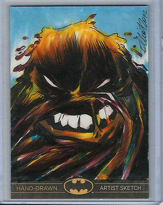 Batman: The Legend 2013 Cryptozoic DC Sketch Card by Elliot Fernandez 1/1