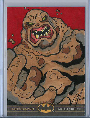 Clayface Batman: The Legend 2013 Cryptozoic DC Sketch Card by Ted Rechlin 1/1