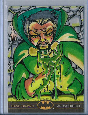 Ra's al Ghul Batman:The Legend 2013 Cryptozoic DC Sketch Card by Luke Smarto 1/1