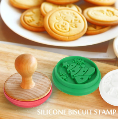 Christmas Silicone DIY Gingerbread Cookie Stamp Fondant Mold Biscuit  Xmas Gift