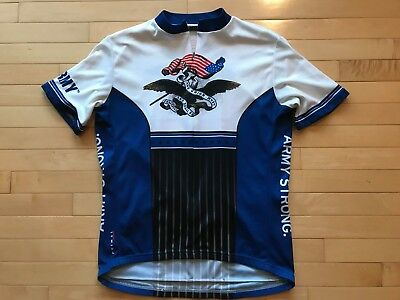 f19005850 Primal Wear US Army Strong Cycling Jersey Mens Short Sleeve Sz XL Crest  Eagle