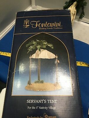 RUG TENT IN BOX FONTANINI 5 inch HEIRLOOM NATIVITY