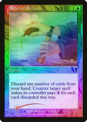 Rites of Refusal FOIL Odyssey NM Blue Common MAGIC THE GATHERING CARD ABUGames