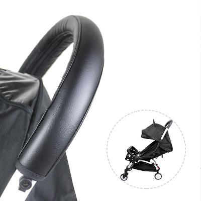 Grip Handle Artificial PU Leather Sleeve Case Cover for Baby Pushchairs Stroller