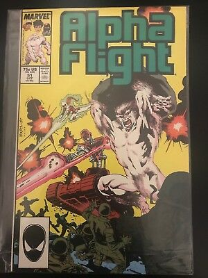 Alpha Flight Marvel Comics VF Book 1983 1st Series Jim Lee First Work For Marvel