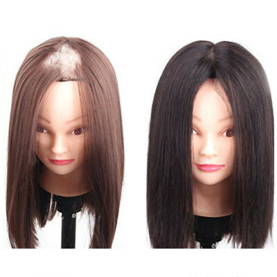 Handmade Mono Clip In Top Toupee Topper Hairpiece 100% Real Human Hair Straight