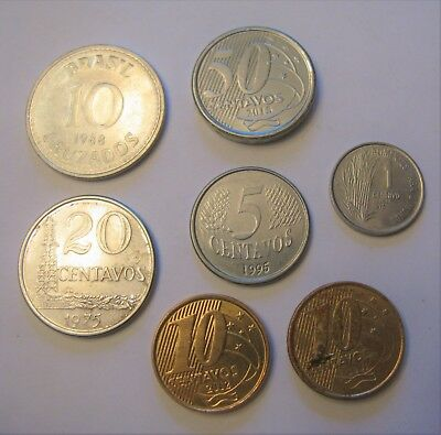 Mixed Lot of Coins From Brazil. Centavos & Cruzados