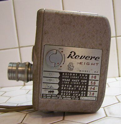 Vintage Revere Eight 8MM Movie Camera Model 84 Made In U.S.A..