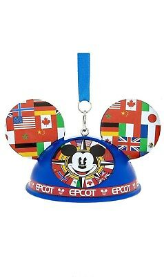 Disney Parks Mickey Mouse Epcot World Showcase Light-Up Ear Hat Ornament NWT