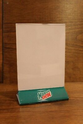 Mountain Dew Pepsi Cola Table Tent Menu Card Holder Collectible