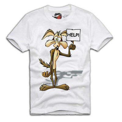 E1Syndicate T-Shirt Wile E. Coyote Looney Tunes Bugs Bunny Roadrunner A489