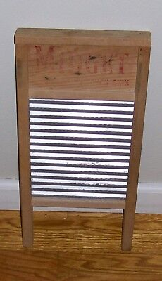 "Vintage MIDGET Washboard 18"" x 8.5"" National Washboard Co # 442 Chicago Memphis"