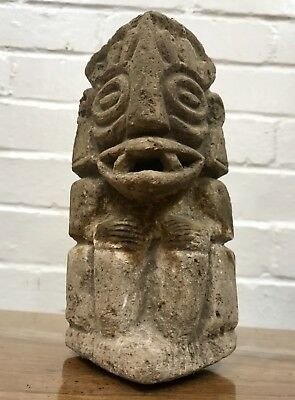Museum Ancient Prehistoric Carved Stone Statue Artifact *Central American *Mayan