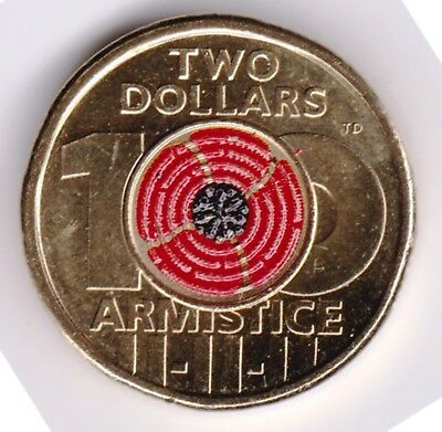 2018 $2 Armistice Remembrance Poppy - Single Coin - 100 Years