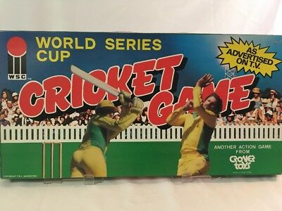World Series Cup Cricket 80s Vintage Board Game