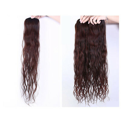 100% Real Human Natural Women Girl Clip In Hair Extensions Long Curly Wavy Hair