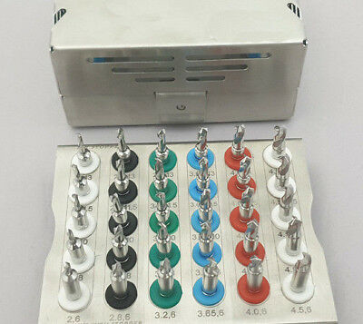 Dental Implant Conical Drills Kit with Stopper Set of 30 PCs/ Implant Kit 11pF