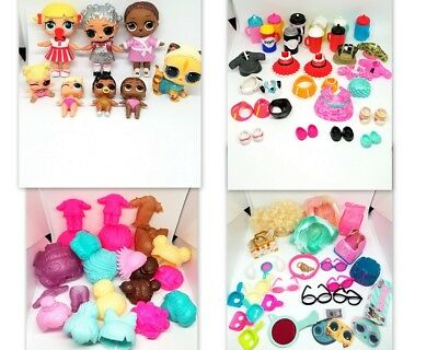 LOL Surprise Lot of Dolls Accessories Clothes Shoes Wigs and MORE