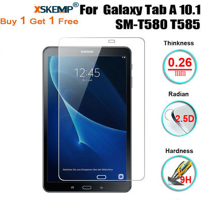 2Pcs Tempered Glass Screen Protector For Samsung Galaxy Tab A 10.1 SM-T580 T585