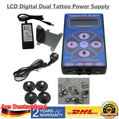LCD Hurricane Digital Display Tattoo Power Supply Maschine Netzteil Netzgerät DE