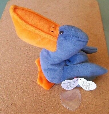 Ty Beanie Babies--Scoop The Pelican--Mint Condition--1996 Pvc Retired-- Plush