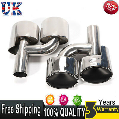 Quad Oval Exhaust Pipe Tips Muffler For Mercedes Benz W204 C63 C300 C350 Amazing