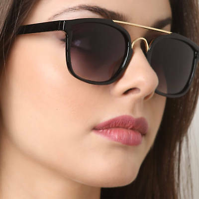 Fancy Square Women Fashion Sunglasses Metal Bridge Trendy Retro Frame Plastic