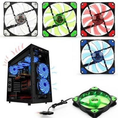 120mm 15 LED penetrating color fan PC computer chassis CPU cooling fan
